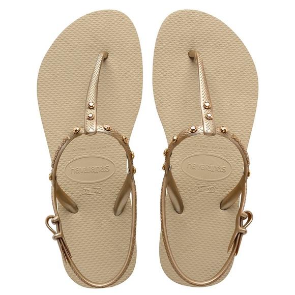 958f230d3 Havaianas Freedom Swarovski Crystal Sandal Gold